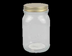Glass Jar with Metal Screw Top Lid 500ml