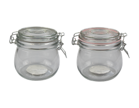 Glass Jar with Clip Top Lid 450ml - Trend