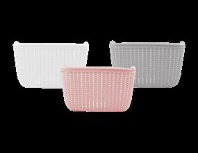 Plastic Woven Effect Basket Large - Trend 13.6L