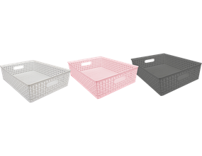Wholesale Plastic Rattan Effect Basket Tray - Trend | Gem Imports Ltd