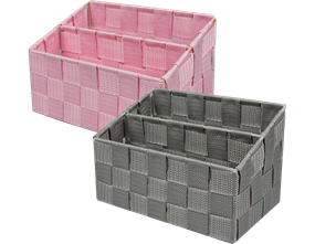 Woven 2 Section Tiered Storage Basket - Trend 2.2L