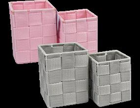Woven 2pc Storage Pots - Trend 1.46L