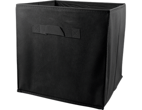 Plain Foldable Non Woven Storage Box - Black 3L