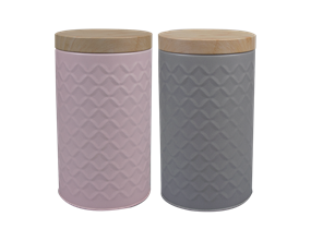 Round Embossed Storage Tin Large - Trend 1.7L