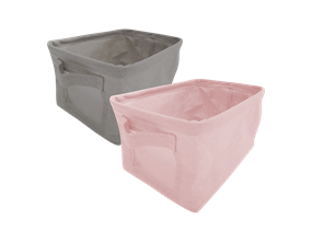 Foldable Canvas Storage Basket with Handles 7L