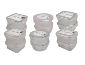 Clip Lock Containers 2PK - Trend