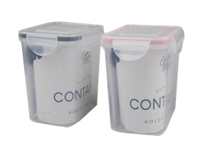 Rectangle Clip Lock Container 1000ml - Trend