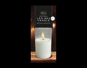 Wholesale LED Wax Candle 17.5cm x 7.5cm | Gem Imports Ltd