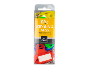 Key Ring Tags - 25 Pack