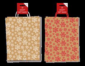Wholesale Kraft Printed Gift Bags 2 Pack   Gem Imports Ltd