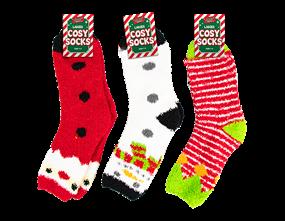 Wholesale Ladies Cosy Christmas Socks | Gem Imports Ltd