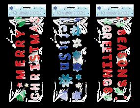 Large Christmas Gel Window Stickers