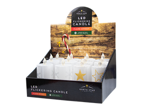 Wholesale LED Flickering Christmas Pillar Candles | Gem Imports Ltd