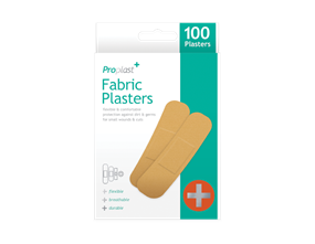 Fabric Plasters - 100 Pack