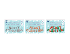 Wholesale Merry Christmas Foil Balloon Banners | Gem Imports Ltd