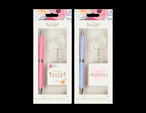 Mothers Day Pen & Keyring Gift Set