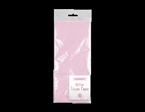 Pink Glitter Tissue Paper 6 Sheet
