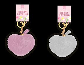 Mother's Day Heart Plush Keyring