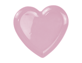 Pink Plastic Heart Plate