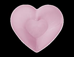 PInk Plastic Heart Serving Bowl