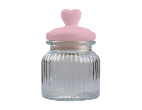 Mother's Day Heart Lid Glass Jar 670ML