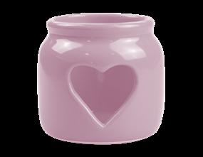 Pink Heart Cut-Out Tealight Holder