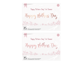 Happy Mother's Day Foil Banner 1.5m