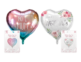 """Mother's Day Heart Foil Balloon 18"""""""