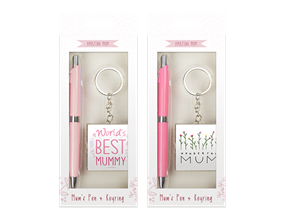 Mother's Day Pen & Keychain Gift Set