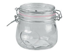 Mother's Day Heart Glass Jar 450ML