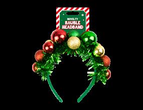 Wholesale Christmas Novelty Bauble Headband | Gem Imports Ltd