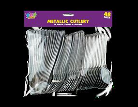 Metallic Cutlery - 48 Pack