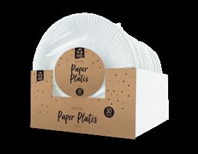 Wholesale Disposable White Paper Plates | Gem Imports Ltd