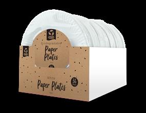 Wholesale Disposable White Paper Plates   Gem Imports Ltd