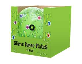 Slime Disposable Paper Plates 23cm - 12 Pack