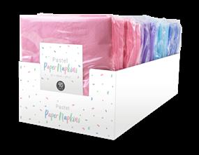 Pastel Disposable Paper Napkins