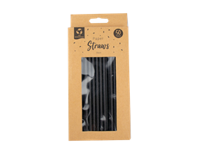 Wholesale Paper Straws Black | Gem Imports Ltd