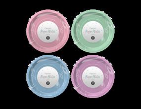 Wholesale Pastel Coloured Paper Plates 23cm PDQ | Gem Imports Ltd