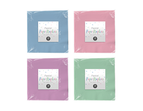 Wholesale Paper Napkins Pastel Colours | Gem Imports Ltd
