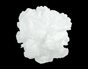 Wholesale Exfoliating White Bath Ruffles | Gem imports Ltd