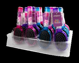 Hair Brush with Hair Accessories PDQ