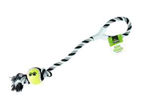 Wholesale Rope Dog Tugger Toy With Ball | Gem Imports Ltd