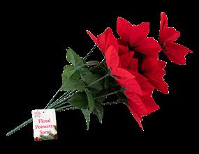 Wholesale Poinsettia Flower Christmas Spray | Gem Imports Ltd