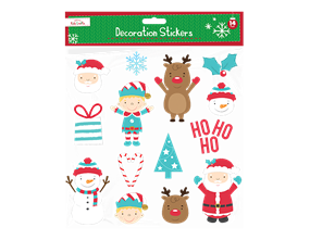 Wholesale Christmas Present Decoration Stickers | Gem Imports Ltd