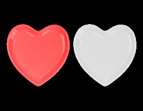 Red Ceramic Heart Plate