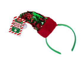 Wholesale Reversible Sequin Elf Hat Headbands | Gem Imports Ltd