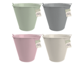 Wholesale Round Tin Bucket Planters   Gem Imports Ltd