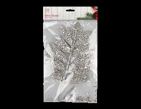 Wholesale Silver Glitter Stems 45cm 3 Pack | Gem Imports Ltd