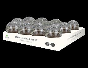 Wholesale Solar Clear Glass Crackle Ball Light | Gem Imports Ltd