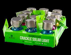 Wholesale Solar Coloured Glass Crackle Ball Light | Gem Imports Ltd